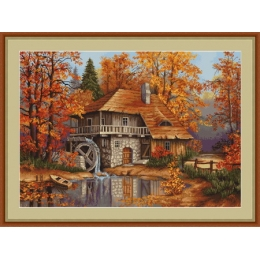 Набор для вышивки крестом - Luca-S - B481 Осенний пейзаж