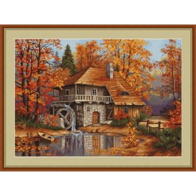 Набор для вышивки крестом - Luca-S - Осенний пейзаж