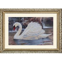 Набор для вышивки бисером - Butterfly - №502 Лебедь