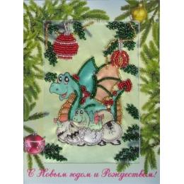 Набор для вышивки бисером - Butterfly - №705 Дракончик (открытка)