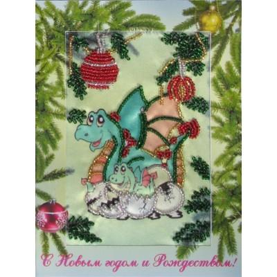Дракончик (открытка) - Butterfly - набор вышивки бисером