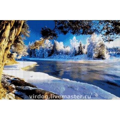 Авторский набор вышивки бисером - Токарева А. - Зимний пейзаж