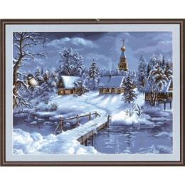 Зимний пейзаж - Luca-S - набор вышивки крестом