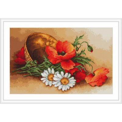 Полевые цветы - Luca-S - набор для вышивки крестом