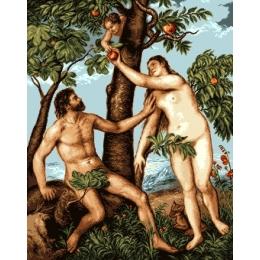 Вышивка гобеленовым швом - Goblen Set - G852 Адам и Ева