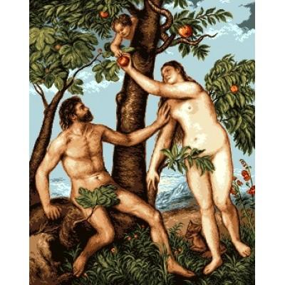 Адам и Ева - Goblen Set - вышивка гобеленовым швом