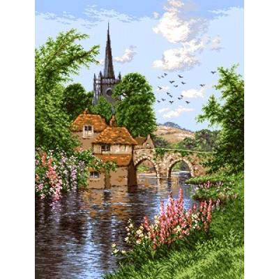 Английский пейзаж - Goblen Set - вышивка гобеленовым швом