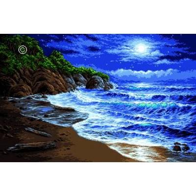 Ночные огни (Лин Ласнески) - Goblen Set - вышивка гобеленовым швом