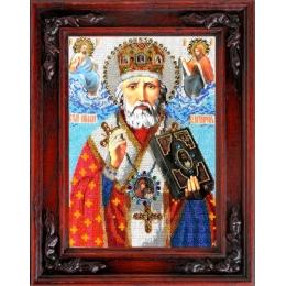 Икона Св. Николай Чудотворец - ТМ Вышиваем бисером - вышивка бисером икон