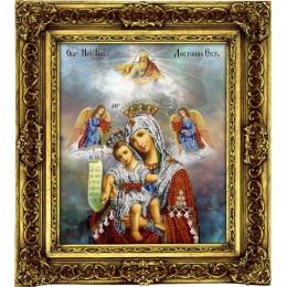 Икона Богородица Милующая - ТМ Вышиваем бисером - вышивка бисером икон