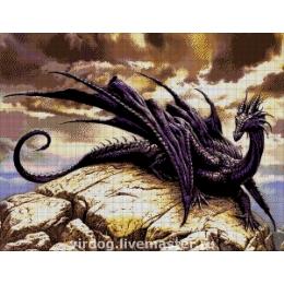 Авторский набор для вышивки бисером - Токарева А. - Черный Дракон 36-2310-НЧ
