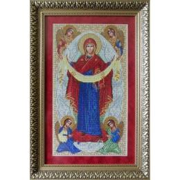 Икона Покров Пресвятой Богородицы - БС Солес - вышивка бисером икон