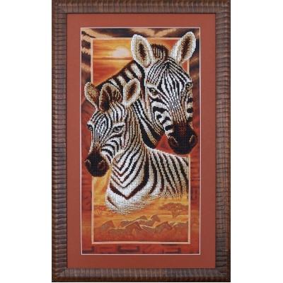 Африка: Зебры - Магия канвы - набор вышивки бисером