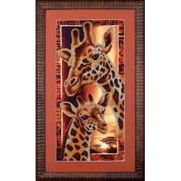 Набор для вышивки бисером - Магия канвы - Б-057 Африка: Жирафы