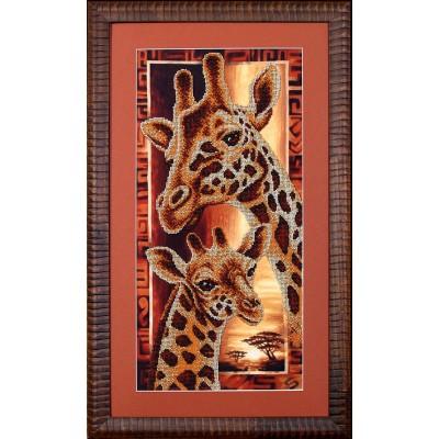 Африка: Жирафы - Магия канвы - набор вышивки бисером