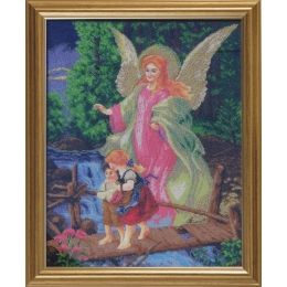 Ангел Хранитель (маленькая икона) - БС Солес - набор для вышивки бисером икон