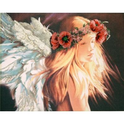 Ангел маковый букет - Изящное Рукоделие - набор вышивки бисером