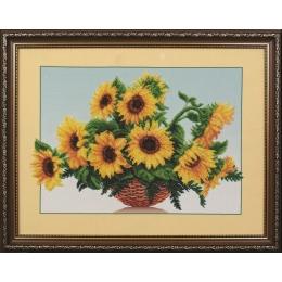 Солнечные цветы - Магия канвы - набор для вышивки бисером