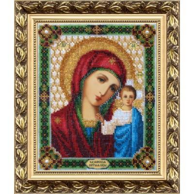 Икона Божьей Матери Казанская - Чарівна Мить - вышивка бисером иконы
