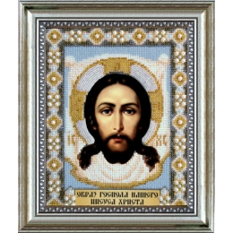 Икона Образ Господа Нашего Иисуса Христа - Чарівна Мить - вышивка бисером икон