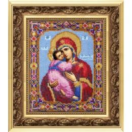Икона Божьей Матери Владимирская - Чарівна Мить - вышивка бисером иконы