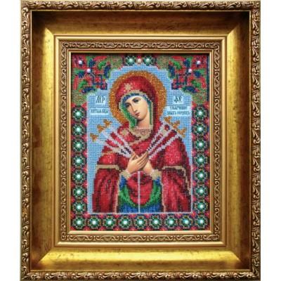 Икона Божьей матери Умягчение злых сердец - Чарівна Мить - вышивка бисером иконы