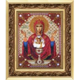 Вышивка бисером иконы - Чарівна Мить - Б-1009 Икона Божьей Матери Неупиваемая чаша