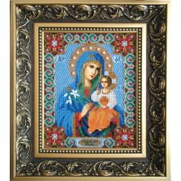 Икона Божьей Матери Неувядаемый цвет - Чарівна Мить - вышивка бисером иконы