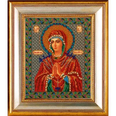 Икона Богородица умягчения злых сердец - Кроше - вышивка бисером икон