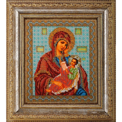 Икона Богородица Утоли мои Печали - Кроше - вышивка бисером икон