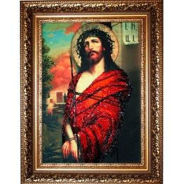 Икона Иисус в терновом венке - Изящное рукоделие - вышивка бисером икон