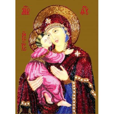 Икона Богоматерь Владимирская - Изящное рукоделие - вышивка бисером икон