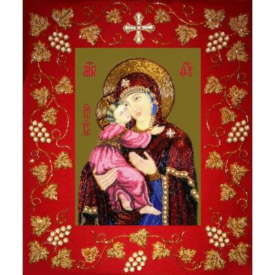 Икона Богоматерь Владимирская (в рамке) - Изящное рукоделие - вышивка бисером икон