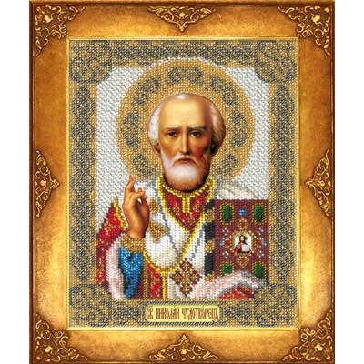 Икона Святой Николай - Русская искусница - вышивка бисером икон