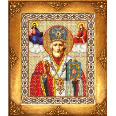 Икона Св. Николай Чудотворец - Русская искусница - вышивка бисером икон