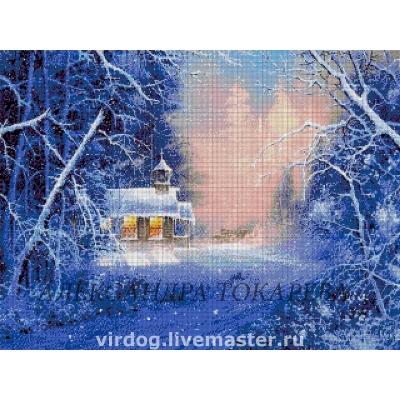 Зимняя ночь - Токарева А. - авторский набор вышивки бисером