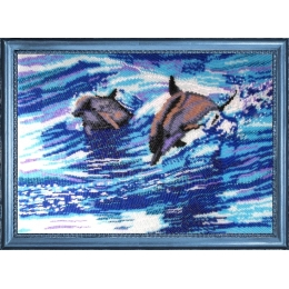 Дельфины - Butterfly - набор вышивки бисером