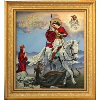 Икона Св. Георгий Победоносец - Краса і Творчість - вышивка бисером икон