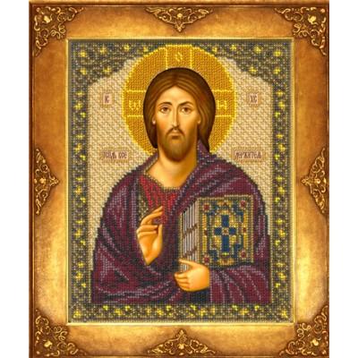 Икона Господь Вседержитель (Спас Синайский) - Русская искусница - вышивка бисером икон