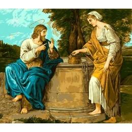 Вышивка гобеленовым швом - Goblen Set - Иисус и самаритянка