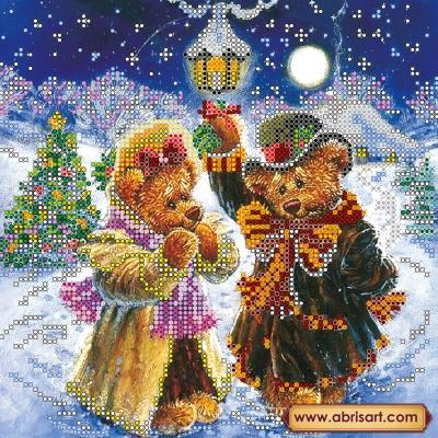 Искры волшебной зимы - Абрис Арт - схема вышивки бисером