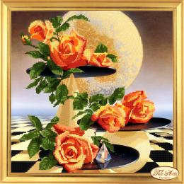 Набор для вышивки бисером - Тэла Артис - Лунные розы