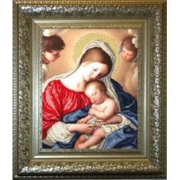 Мадонна с младенцем - Краса і Творчість - вышивка бисером икон