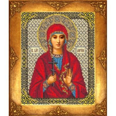 Икона Св. Марина - Русская искусница - вышивка бисером икон