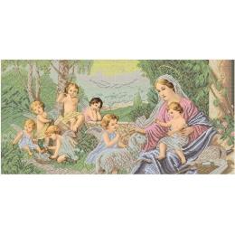 Схема вышивки бисером - БС Солес - Мадонна и ангелы