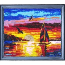 Набор для вышивки бисером - Butterfly - №308 Морской закат