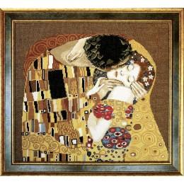 По мотивам Г. Климта Поцелуй (фрагмент) -Чарівна Мить - набор вышивки крестом