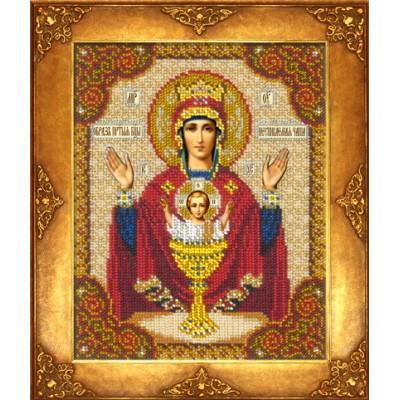 Икона Богородица Неупиваемая чаша - Русская искусница - вышивка бисером икон