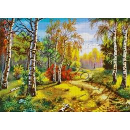Авторский набор для вышивки бисером - Токарева А. - Березовая роща 48-3519-НБ