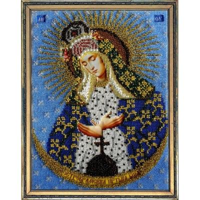 Икона Богородица Остробрамская - ТМ Вышиваем бисером - вышивка бисером икон